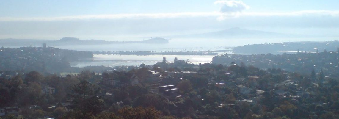 Remuera and Hobson Bay from Mt Hobson