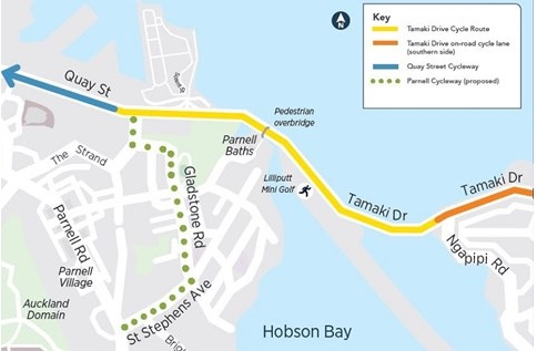 Cycling on Tamaki Drive – Proposed Upgrade. Give Your Views!