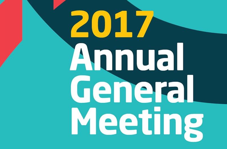 Reminder: Annual General Meeting, 4 July 2017